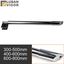 Stainless steel Shower Glass door fixed rod/clip,Bathroom glass support bar,Beveled clip,Stretchable length,shower accessories