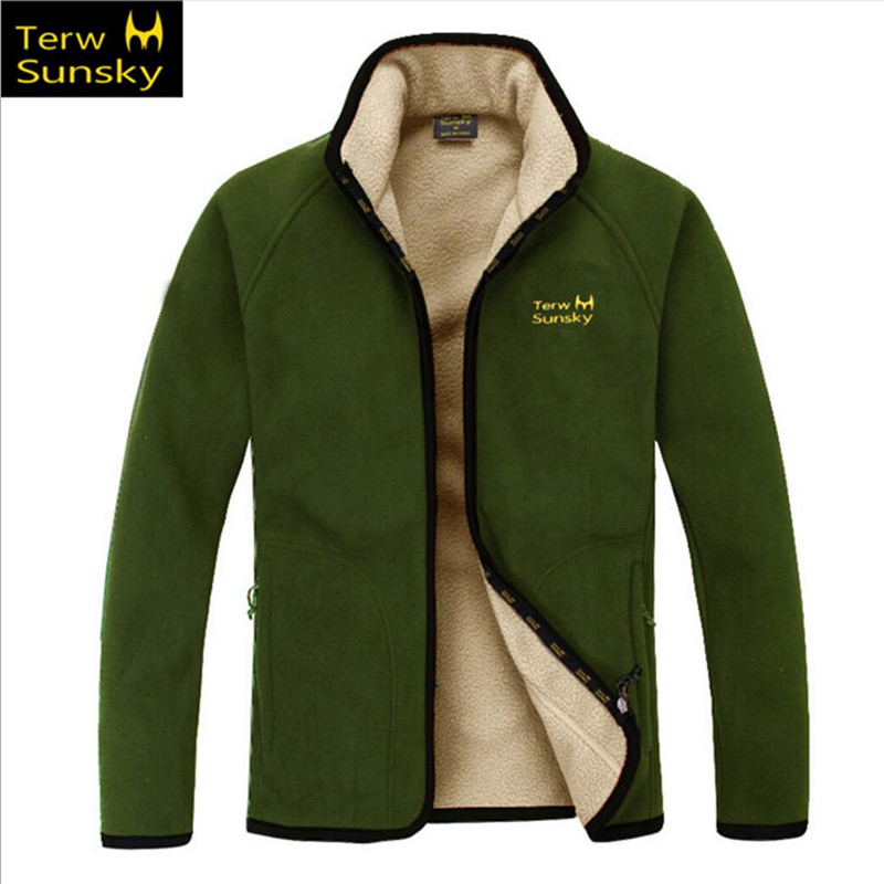 Free Shipping- Hot Sale Terwsunsky Autumn/Winter Men Outdoor Cold/Wind Resistance Warm Thickening Fleece Jackets TR006 minki cheng юбка длиной 3 4
