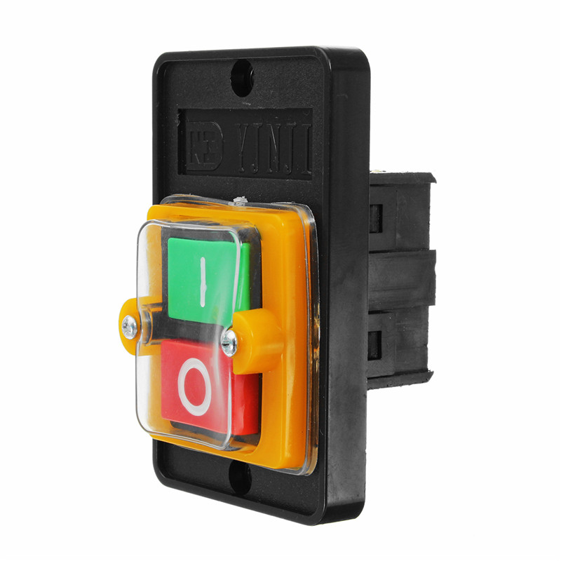 On/Off Drill Motor Machine Switch Water Proof Push Button AC 220/380V KAO-5M Industrial Machine Switch bqlzr dc12 24v black push button switch with connector wire s ot on off fog led light for toyota old style