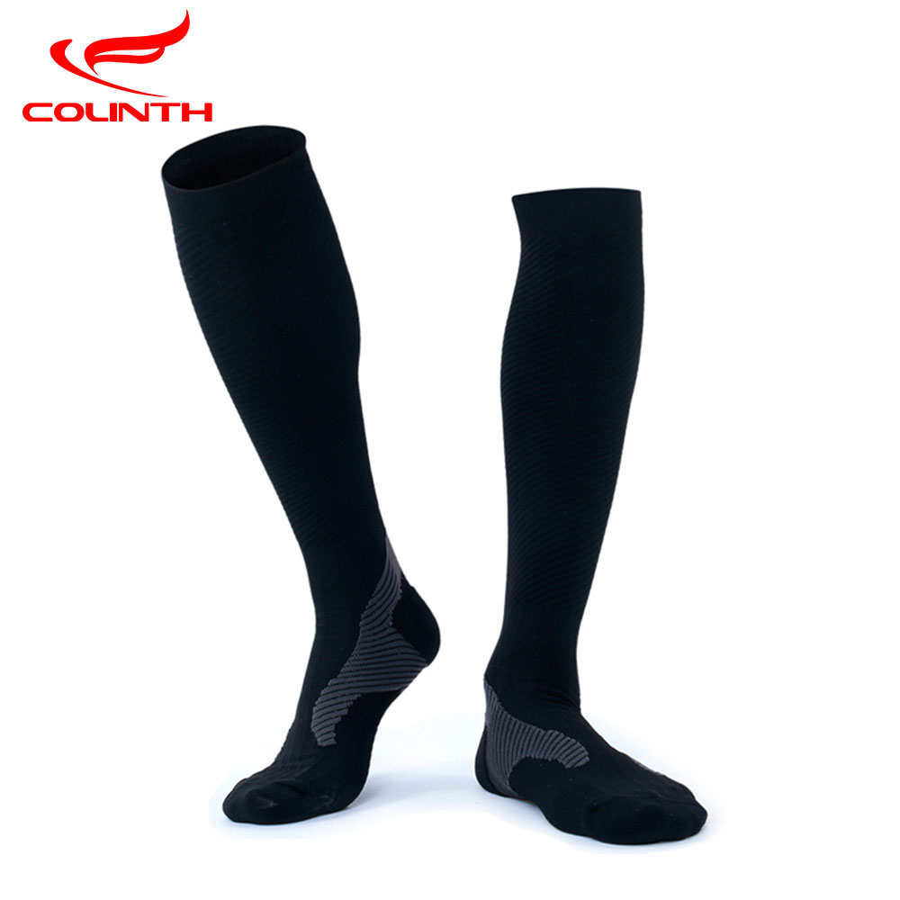 Warm Breathable Knee-high Stockings Running Cycling Skiing Climbing Socks High Performance Compression Socks for Men Free Ship
