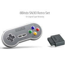 HobbyLane SN30 8Bitdo Retro Bluetooth Controller Gamepad With Receiver Adapter For Android Mac For Nintend SNES SF-C d25 цена 2017