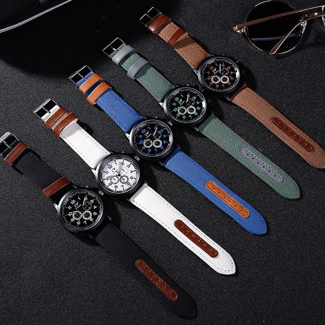 PINBO Casual Quartz watch men Women military Watches sport Wristwatch Leather Clock Fashion Quartz Wristwatch Relogio Masculino
