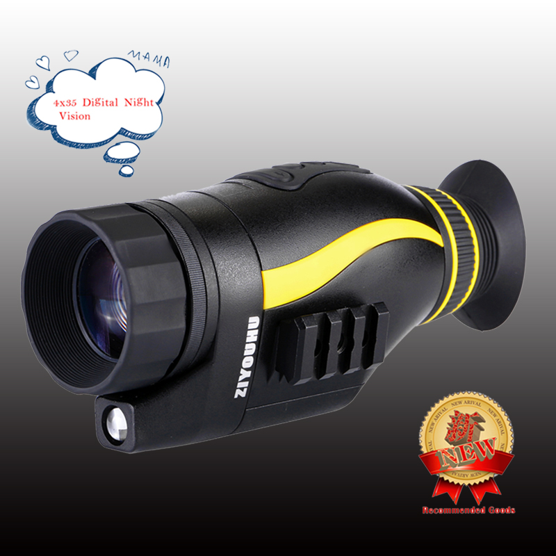 Latest New Digital Night Vision Goggles 4x35 HD Infrared IR Camcorder Monocular Hunting Scope Multi Function Night Viewer Device-in Night Visions from Sports & Entertainment