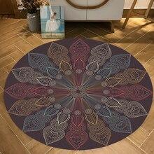 Персидская Этническая Мандала Цветы Европейский Цветочный Круглый ковер для гостиной спальни декоративная зона ковер стол стул дверной коврик