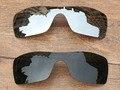Хром Серебристый и Зеленый Черный 2 Шт. Поляризованных Сменные Линзы Для Batwolf Солнцезащитные Очки Кадров 100% UVA и UVB Защиты