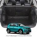 Для Volkswagen T-Cross 2019-Present автомобильный напольный коврик кожаный поднос ковер грузовой лайнер пользовательский коврик для багажника авто кове...