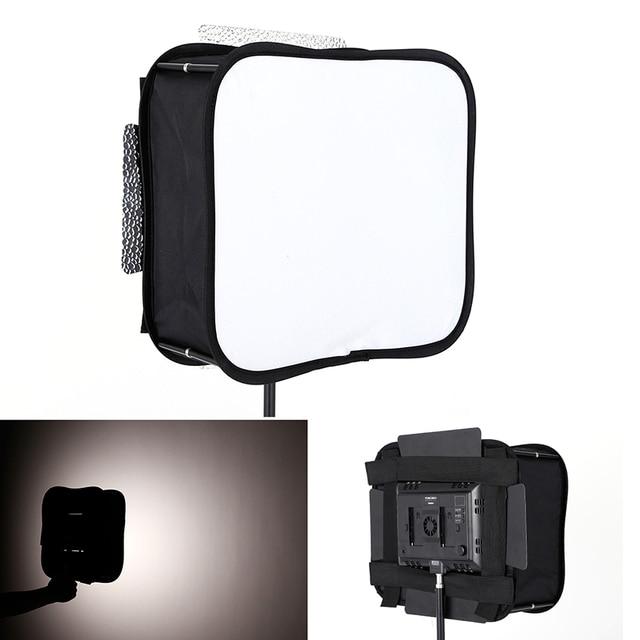 Difusor Softbox 23*23 para YONGNUO YN600L II YN900 YN300 YN300 III Panel de luz de vídeo Led filtro suave plegable