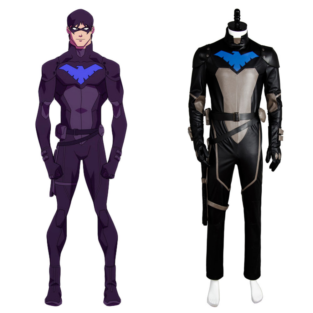 Original young justice cosplay costume s2 nightwing jumpsuit suit outfit uniform mask set from - Pictures of nightwing from young justice ...