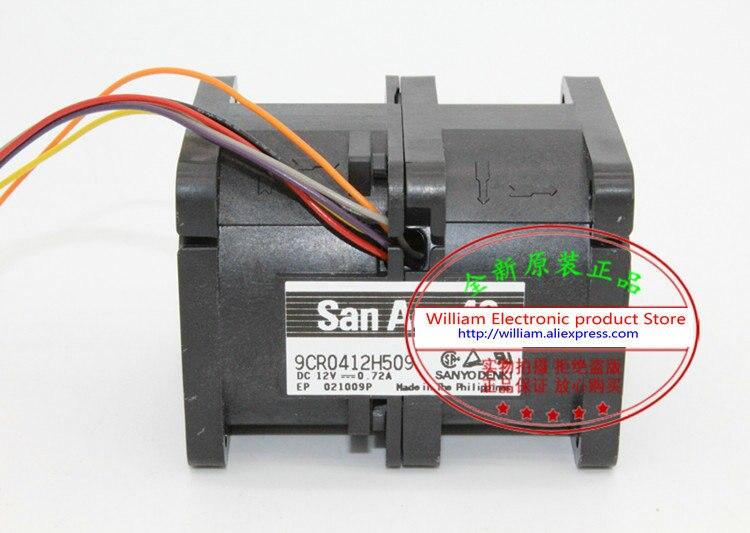 New Original SANYO 9CR0412H509 12V 0 72A 40 40 56MM 4CM Computer font b server b