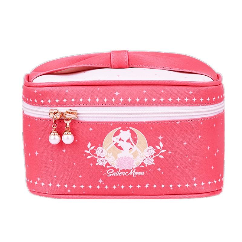 Lolita Anime Sailor Moon Luna Roze Zee Handtas Make Up Tas Prinses Reizen Mini Cosmetische schoudertas Messenger Bag Cospaly-in Schoudertassen van Bagage & Tassen op  Groep 1
