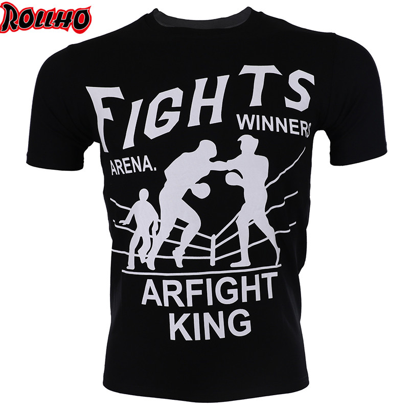Fighting MMA Muay Thai Boxing Shorts Muay Thai Pattern Sport T Shirt Training Wear Breathable Clothing MMA Shirt Boxing Clothing