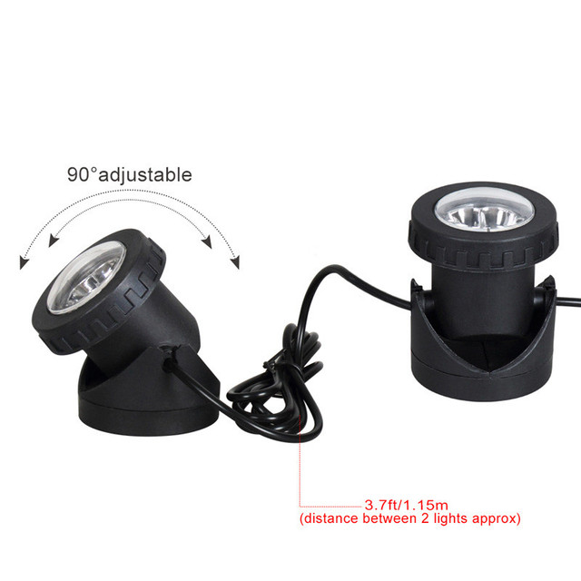 Solar Light Waterproof IP68 Lamp RGB 30leds Underwater Spot Light for Swimming Pool Fountains Pond Water Garden Aquarium
