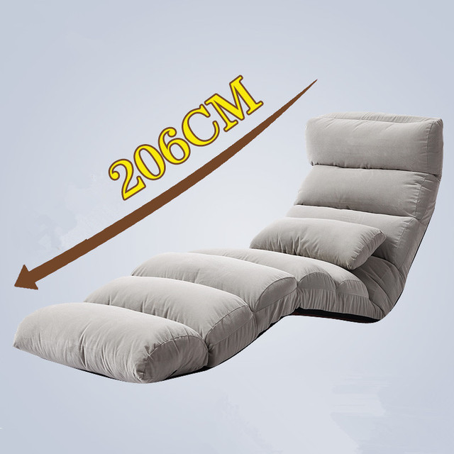 Chaise Lounge Sofa Daybed 6 ColorsJapanese Living Room Chair Modern Floor Step Foldable Upholstered Recliner Chaise Lounge Sofa