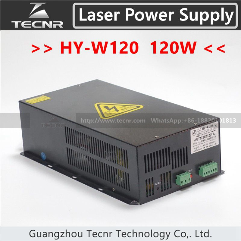 TECNR 100W 120W CO2 Laser Power Supply HY-W120 For Laser Engraving And Cutting Machine