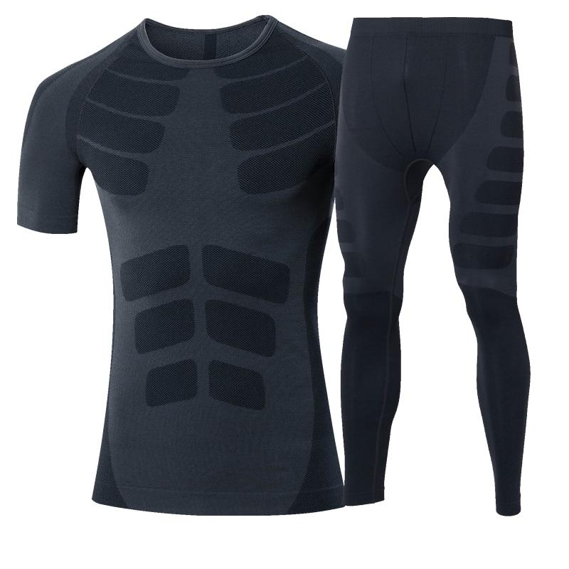 Nuevo juego de correr T Shirt Fitness Leggings Running Gym Training - Ropa deportiva y accesorios - foto 3