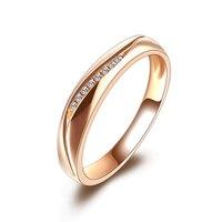 ZHJIASHUN 18 К розовое золото кольцо для пары благородный темперамент настоящий Алмаз Свадебные обручальные кольца для женщин ювелирные изделия