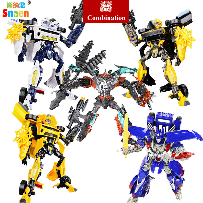 Snaen Transformation Dinosaur Robots Classic Model Action Figures Robot Toys Gifts for Children G1 Movie Plastic