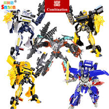 Snaen Transformation Dinosaur Robots Classic Model Action Figures Robot Toys Gifts for Children G1 Movie Plastic Fighter(China)