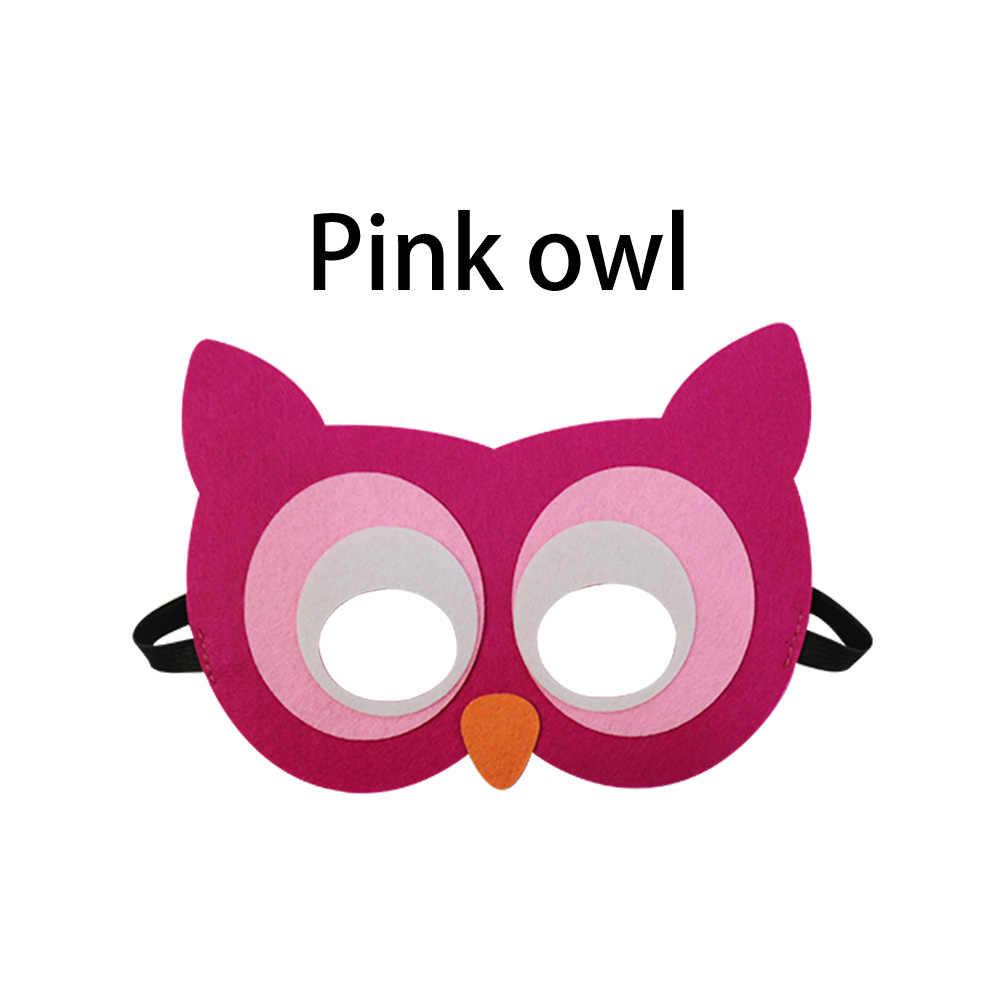 Máscaras de animales especiales para niños, máscara de zoológico, máscara de búho, máscara de Cosplay, máscara de conejo de fiesta, juguetes educativos, máscara de zorro
