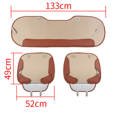 Leather Car Seat Covers Universal Seat-Cover Four Seasons Cushion Sets Automobiles Interior Seat Mat Covers Auto Accessories Lahore