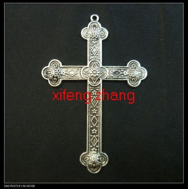 25 pcs/lot alloy tibetan silver Cross charms Free shipping