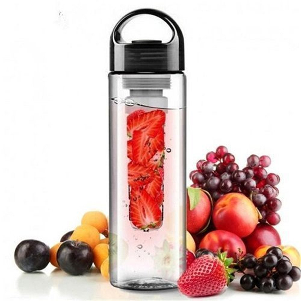 700ML BPA Free Plastic Fruit Infuser Water Bottle With Filter Leakproof Sport Hiking Camping Drink Shaker Bottle