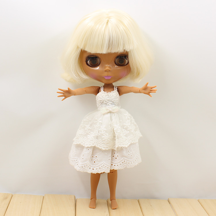Nude Blyth Joint Body BJD 1/6 Blyth Poppen Short Beige Hair Doll Toys For Girls blyth nude doll for series no 230bl117bangs joint body black hair suitable for diy change bjd toy for girls