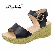 Модные летние босоножки большего размера, модель года Женские однотонные Босоножки на платформе и высоком каблуке женские Босоножки с открытым носком весенняя обувь