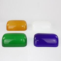 Abajur banqueiro – couvercle de lampe en verre Vintage, pour lampes de table, 4 couleurs, vert/bleu/ambre/blanc