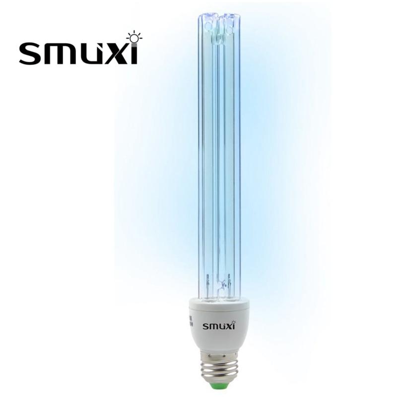 Smuxi E27 UVC Ultraviolet UV Light Tube Bulb 20W Disinfection Lamp Ozone Sterilization Mites Lights Germicidal Lamp Bulb AC220V