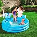 Надувной бассейн  в форме слона  высокого качества  синего цвета  детский мячик  летняя игра в бассейн  хороший детский подарок на день рожде...