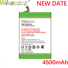 Wisecoco AB3900AWMC 4500mAh New Powerful Battery For Philips XENIUM X818 CTX818 Phone Battery Replacement  Tracking Number сотовый телефон philips x818 xenium champagne