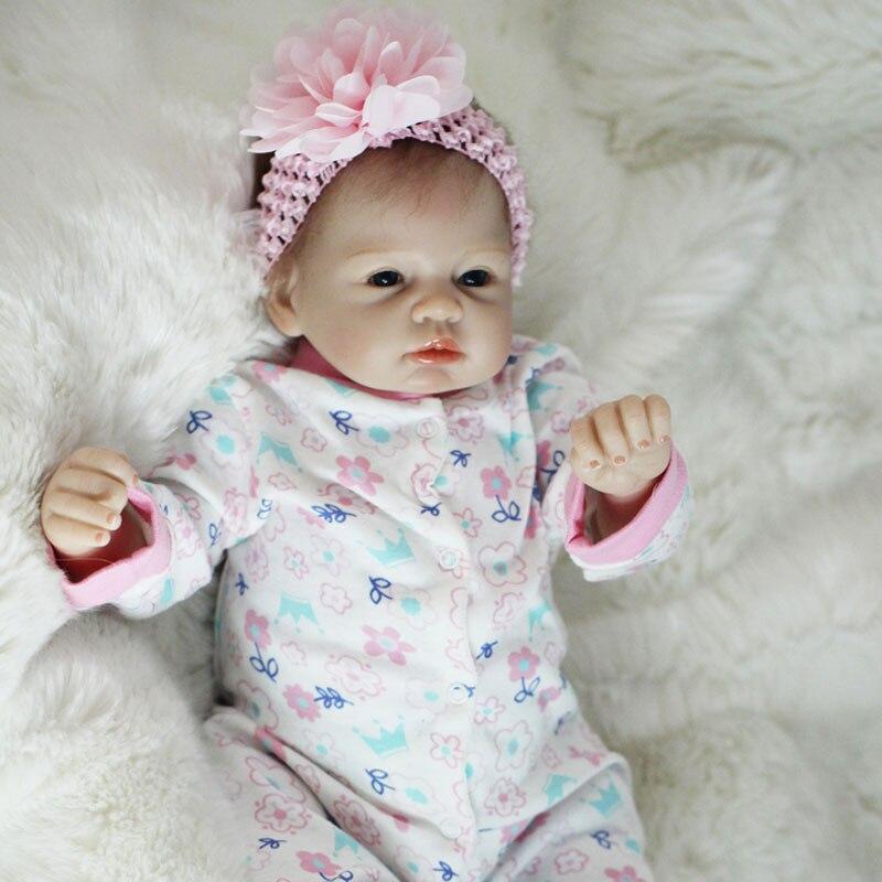 fa101b9593da Boneca Reborn 22 pulgadas suave silicona vinilo muñecas 55 cm suave  silicona Reborn Baby Doll recién nacido realista bebé Reborn muñecas