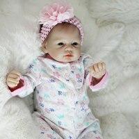 Boneca Reborn 22inch Soft Silicone Vinyl Dolls 55cm Soft Silicone Reborn Baby Doll Newborn Lifelike Bebe Reborn Dolls