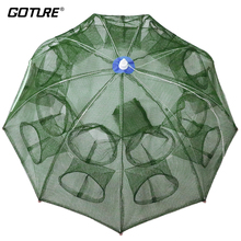 Goture Automatic Fishing Net Shrimp Cage Nylon Foldable Crab Fish Trap Cast Net Cast Folding Fishing Network