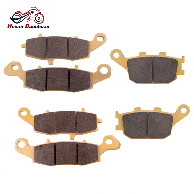 6pcs Motorcycle Front Rear Brake Disk For KAWASAKI KLV 1000 FOR SUZUKI SV 400 DL SV