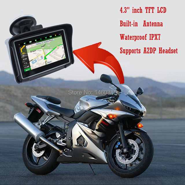 4.3 '' Waterproof Motorcycle GPS navigation With Build In 4G Map