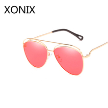 XONIX Sexy Women's Red Oval Sunglasses Women's Luxury Brand Designer Glasses Openwork Frame Design New Women's Glasses UV400