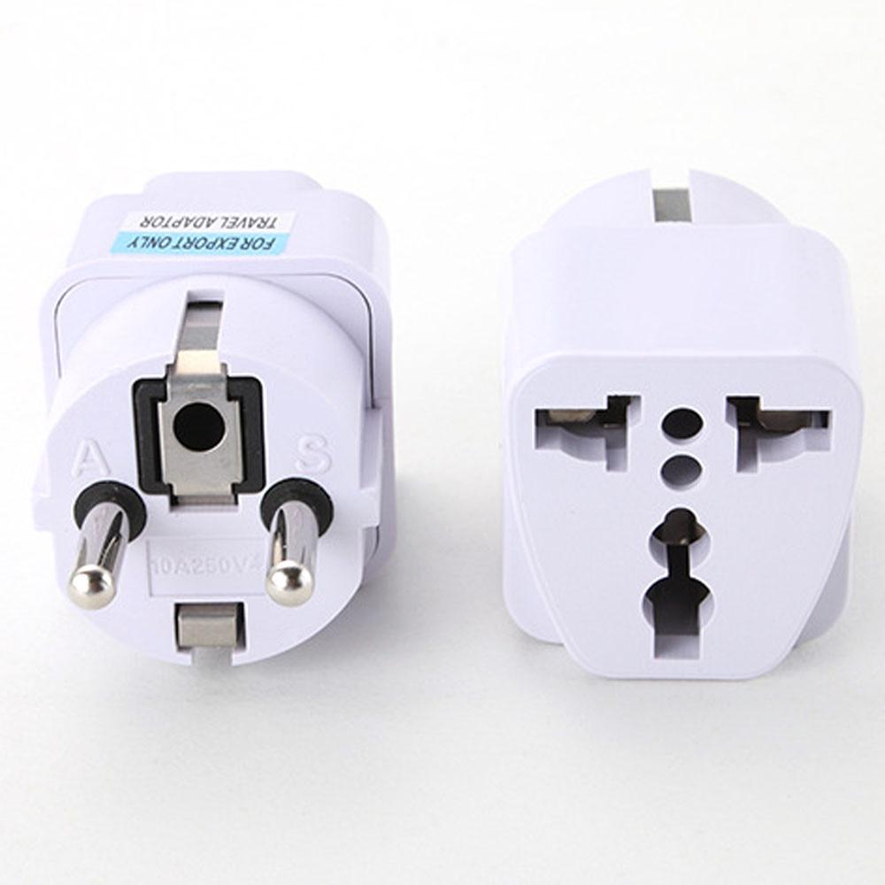 5PCS Universal UK US AU to EU AC Power Socket Plug Travel Charger Adapter Converter WHITE