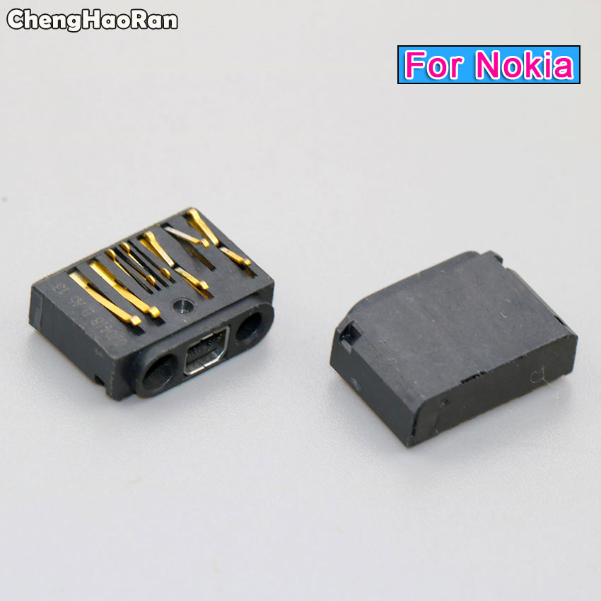 ChengHaoRan USB Charge Socket Charging Jack Connector Dock Port Plug For Nokia 1600 1110 2610 1110i 2630 6030 1112 1116
