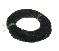 Free Shipping For Jewelry Making DIY Wholesale Cowhide Leather Cord Black Color Approx 1mm 100m Lot