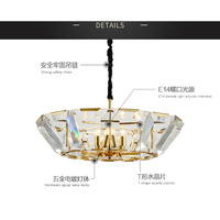 Gold Crystal Chandelier Ceiling Modern Lights E14 And Black Chandeliers Lighting For Living Room Iron Electroplating