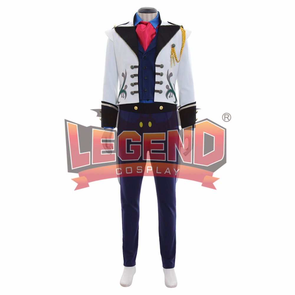 snow queen elsa prince hans cosplay costume fancy outfit mens suit custom made
