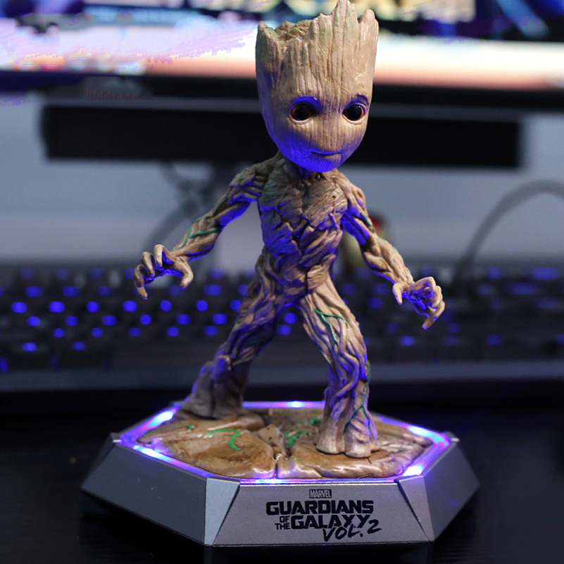 Groot Model Stereo Loudspeaker Portable Subwoofer Wireless Speakers Birthday Christmas Gift Portable Groot LED Bluetooth Speaker