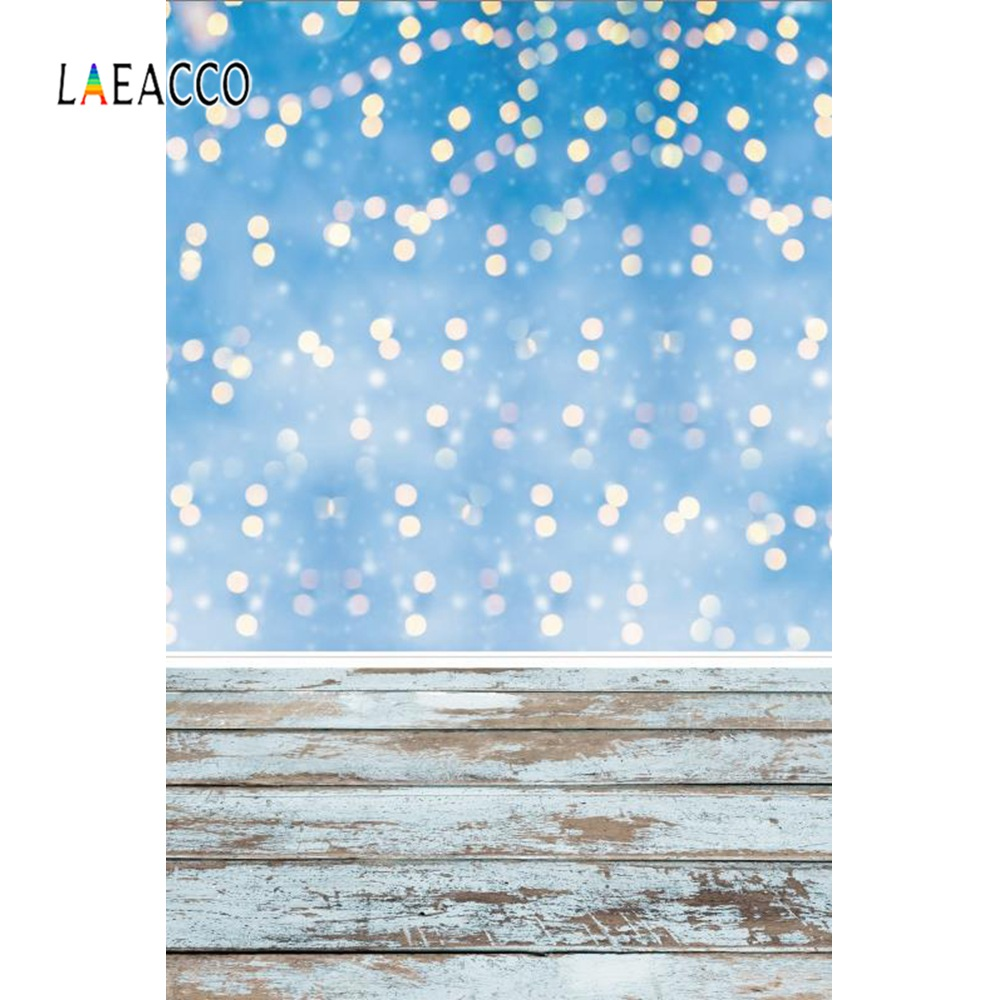 Laeacco Photo Backdrops Light Blue Polka Dots Gray Planks Child Baby Birthday Portrait Photo Backgrounds Photocall Photo Studio in Background from Consumer Electronics