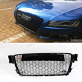 A4 B8 ABS Black Front Grille Mesh Grill with Parking Sensor for AUDI A4 B8 2008 2009 2010 2011 2012