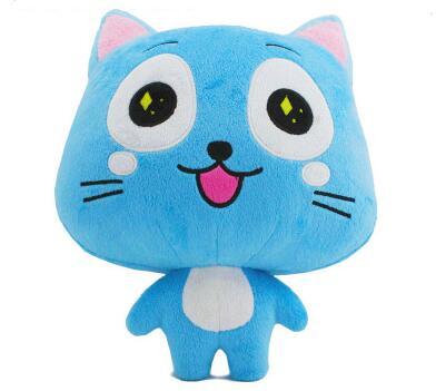 Fairy Tail цифры Happy Cat Мягкие плюшевые игрушки животных кукла Fairy Tail Плюшевые Игрушечные лошадки фигурку
