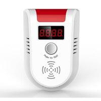 新しいlpgガス検知器ワイヤレスデジタルledディスプレイ可燃性ガス検出器の警報システ
