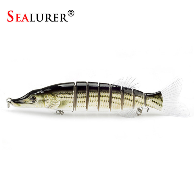SEALURER Pike Lure 20cm 70g 8-segement Isca Artificial Muskie Fishing Lures Sinking Pesca Hard Bait Swimbait Crankbait walk fish 5pcs lot isca artificial fishing lure 13cm 21g crankbait hard fishing bait swimbait pesca lures pike fishing tackle