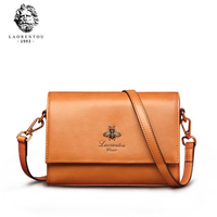 Laorentou Brand Women Shoulder Bag Leather Crossbody Bags for Female Lady Fashion Messenger Small Flap Valentine's Day Gift